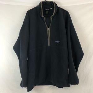 Patagonia Synchilla Black Fleece Pullover Jacket